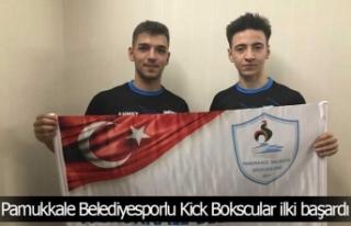Pamukkale Belediyesporlu Kick Bokscular ilki başardı