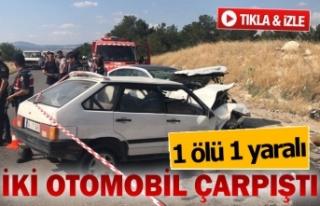 2 araç kafa kafaya çarpıştı; 1 ölü 1 yaralı...