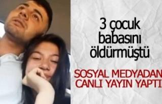 3 çocuk babasının katili sosyal medyada şov yaptı