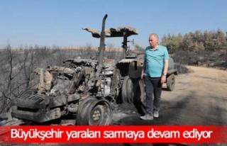 Başkan Zolan'dan traktörü yanan çiftçiye yeni...