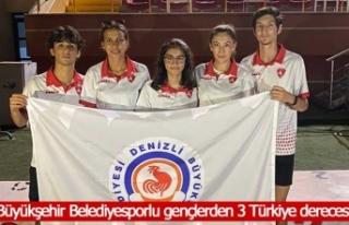 Büyükşehir Belediyesporlu gençlerden 3 Türkiye...