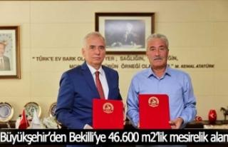 Büyükşehir'den Bekilli'ye 46.600 m2'lik mesirelik...