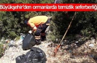 Büyükşehir'den ormanlarda temizlik seferberliği