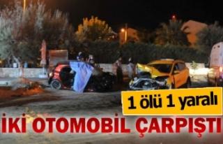 İki otomobilin kazasında 1 kişi öldü, 1 kişi...