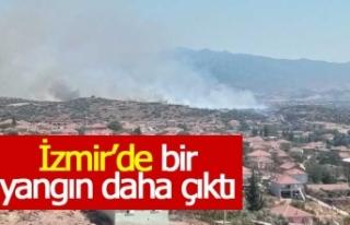 İzmir'in ilçesinde yangın çıktı