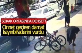 Kayınbiraderini sokak ortasında vurdu! (GÖRÜNTÜLÜ)