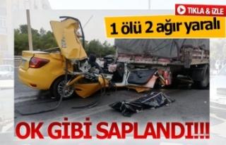 Korkunç kazada yabancı uyruklu şahıs öldü (GÖRÜNTÜLÜ)