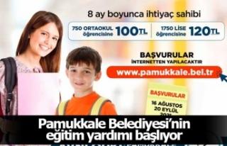 Pamukkale Belediyesi'nin eğitim yardımı başvuru...