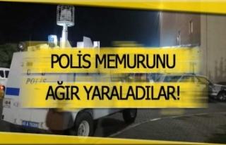 Polis memurunu sokak ortasında bıçakladı