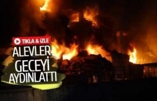 Tekstil fabrikası hala alev alev yanıyor (GÖRÜNTÜLÜ)
