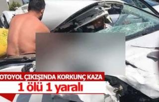 Yaşlı çifti korkunç kaza ayırdı