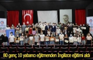 80 genç 10 yabancı eğitmenden İngilizce eğitimi...