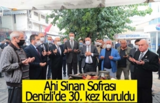 Ahi Sinan Sofrası Denizli'de 30. kez kuruldu