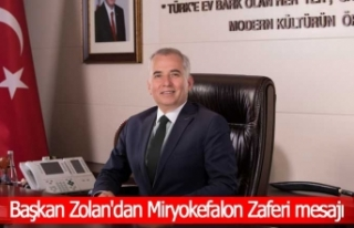 Başkan Zolan'dan Miryokefalon Zaferi mesajı