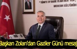 Başkan Zolan'dan Gaziler Günü mesajı