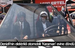 Denizli'nin elektrikli otomobili 'Karaman'...