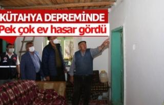 Kütahya depreminde pek çok ev hasar gördü!