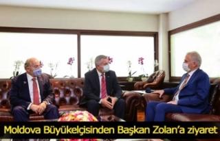 Moldova Büyükelçisinden Başkan Zolan'a ziyaret