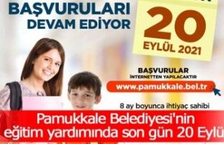 Pamukkale Belediyesi'nin eğitim yardımında...
