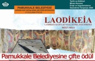Pamukkale Belediyesine çifte ödül