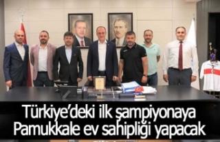 Türkiye'deki ilk şampiyonaya Pamukkale ev sahipliği...