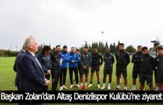 Başkan Zolan'dan Altaş Denizlispor Kulübü'ne...