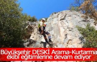 Büyükşehir DESKİ Arama-Kurtarma ekibi eğitimlerine...