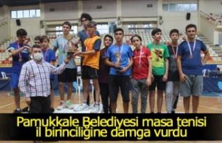 Pamukkale Belediyesi masa tenisi il birinciliğine...