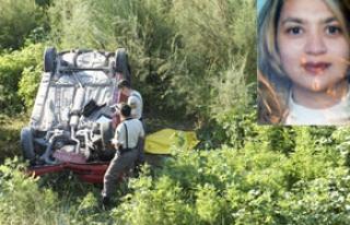 Özbekistanlı Angela şarampole uçtu