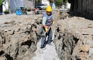 40 yıllık alt yapı yenileniyor