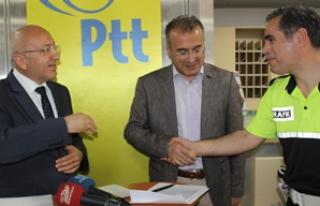 PTT'den güvenlik güçlerine tebrik kartı