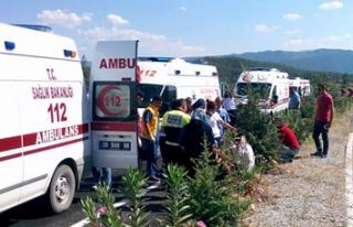 Denizli'de feci kaza 6 yaralı