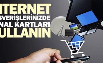 İnternet alışverişlerinizde sanal kartları kullanın