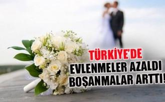 Türkiye'de evlenmeler azaldı boşanmalar arttı!