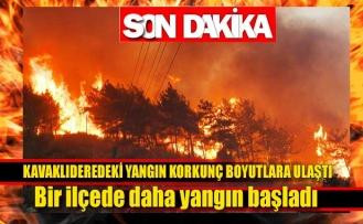 Kavaklıderedeki yangın korkunç boyutlara ulaştı
