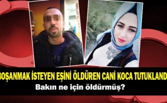 Boşanmak isteyen eşini öldüren cani koca tutuklandı