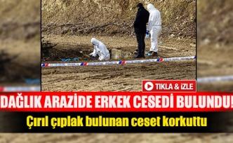 Dağlık arazide erkek cesedi bulundu!