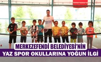Merkezefendi belediyesi'nin yaz spor okullarına yoğun ilgi