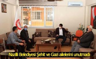 Nazilli Belediyesi Şehit ve Gazi ailelerini unutmadı