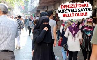 Denizli'de yaşayan Suriyeli sayısı belli oldu!