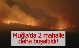 2 mahalle daha tahliye edildi