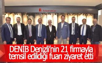 DENİB, Denizli'nin 21 firmayla temsil edildiği fuarı ziyaret etti