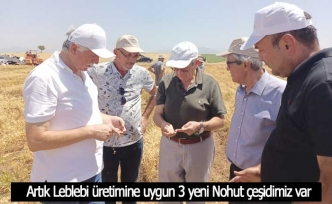 Denizli Ticaret Borsası'nın yürüttüğü Leblebilik Nohut Tohumu Geliştirme Projesinde sona yaklaşıldı
