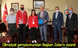 Olimpiyat şampiyonundan Başkan Zolan'a ziyaret