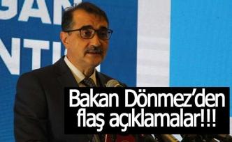Bakan Dönmez'den flaş açıklamalar; 'SATMIYORUZ!'