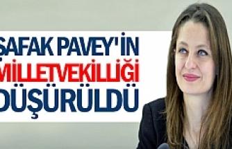Şafak Pavey'in milletvekilliği düşürüldü