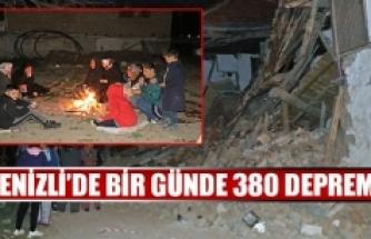 Denizli'de bir günde 380 deprem