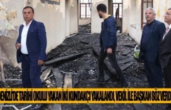 Denizli'de Tarihi okulu yakan iki kundakçı yakalandı, vekil ile başkan söz verdi;
