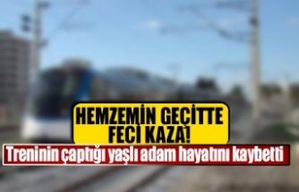 Treninin çaptığı yaşlı adam hayatını kaybetti