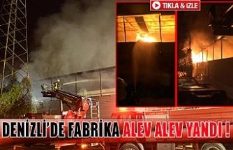 Denizli'de fabrika alev alev yandı !